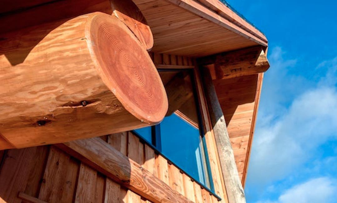 Fiddle Hill log home prow