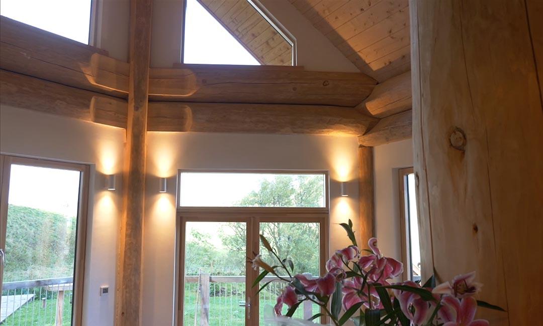 Woodburn dipper log home scotland - living space