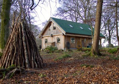 Geoff and Jillie's woodland cottage